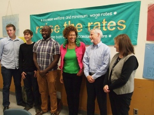 The initial group of 2012 Challenge takers at the launch: Brent Mansfield, Trish Garner, Paul Taylor, Constance Barnes, Ted Bruce, and Colleen McGuire.
