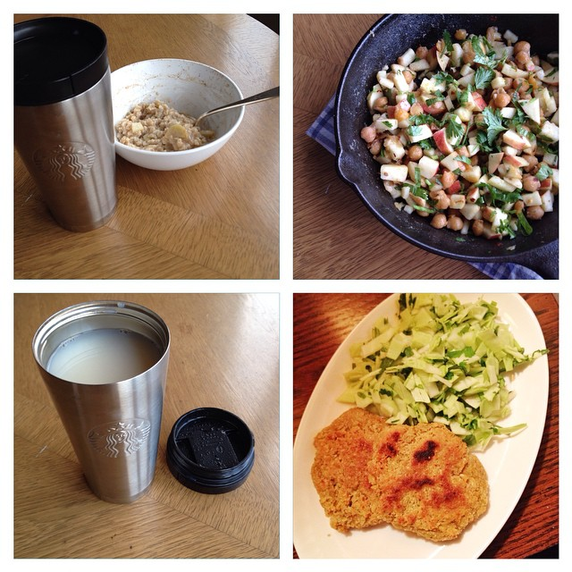 Photo of Kate Hoffard's meals on day 3 of the 2014 Welfare Food Challenge