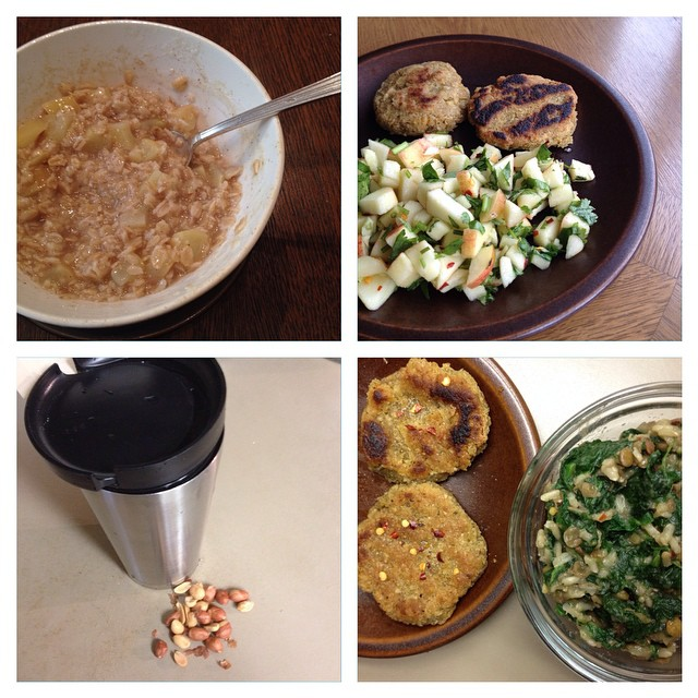 Photo of Kate Hoffard's meals on day 4 of the 2014 Welfare Food Challenge