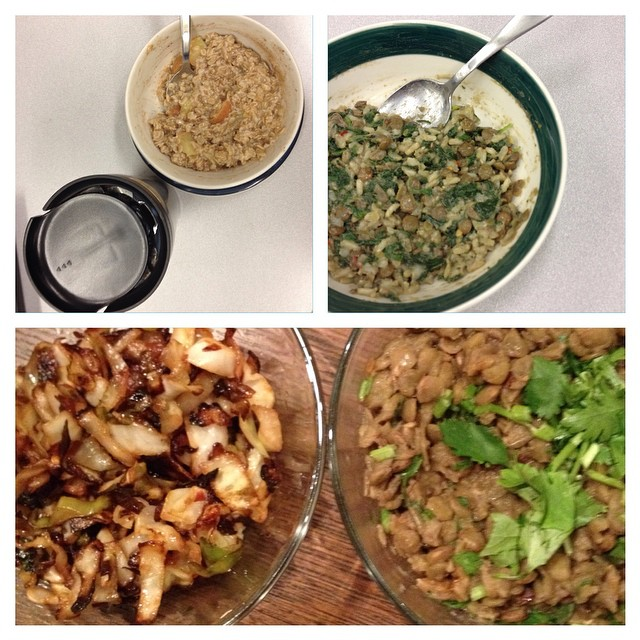 Photo of Kate Hoffard's meals on day 5 of the 2014 Welfare Food Challenge