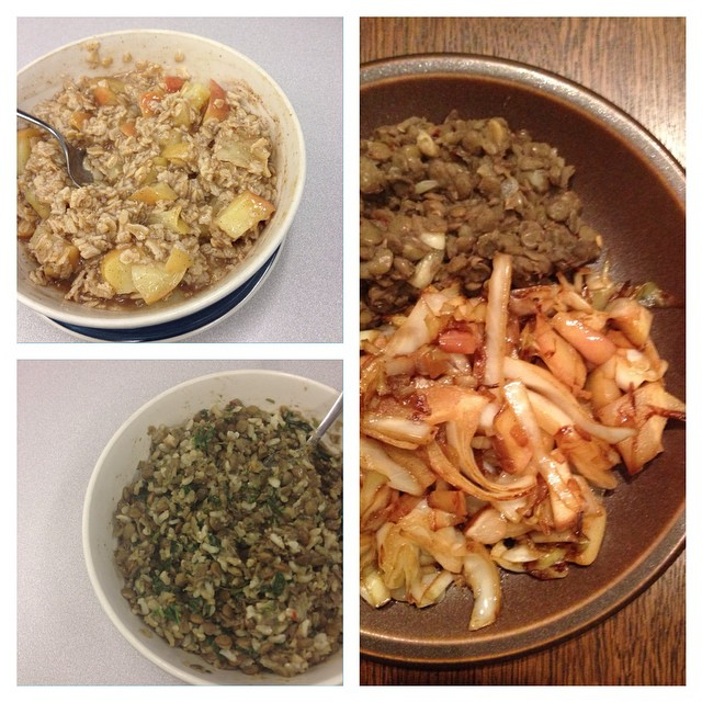 Photo of Kate Hoffard's meals on day 6 of the 2014 Welfare Food Challenge