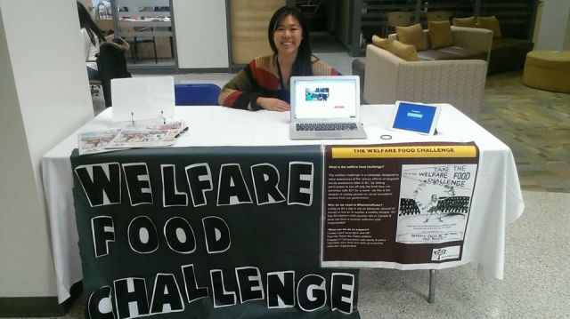 Photo of Samantha at Welfare Food Challenge booth