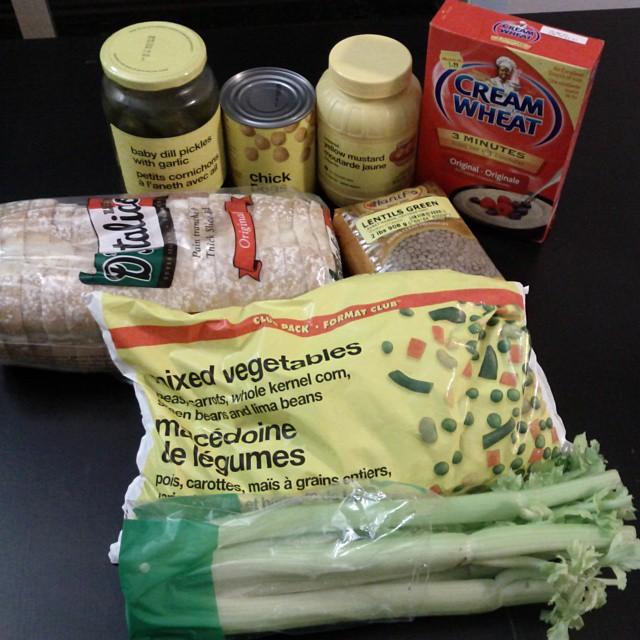 Photo of Tara-lee's groceries for the week
