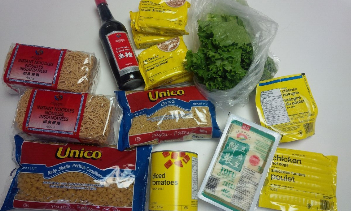 Food bought by Angela Lam for the 2015 Welfare Food Challenge