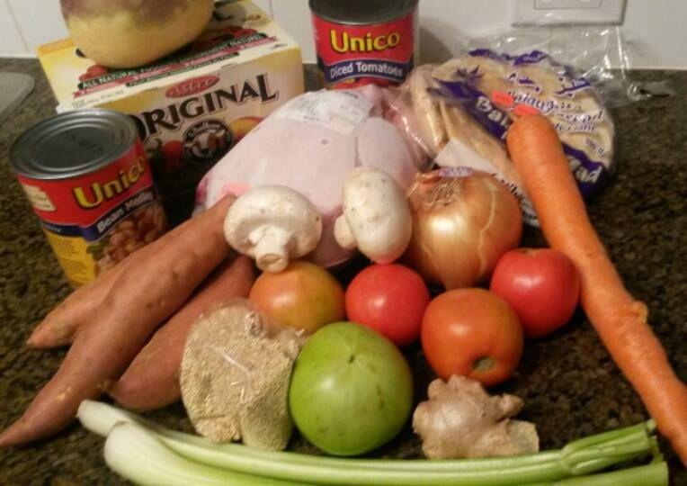 Groceries that Bunny Horne bought for the 2015 Welfare Food Challenge
