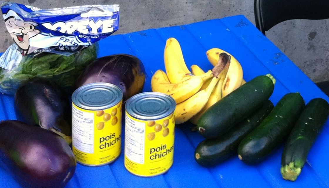 Food that Bif Naked bought for the 2015 Welfare Food Challenge.