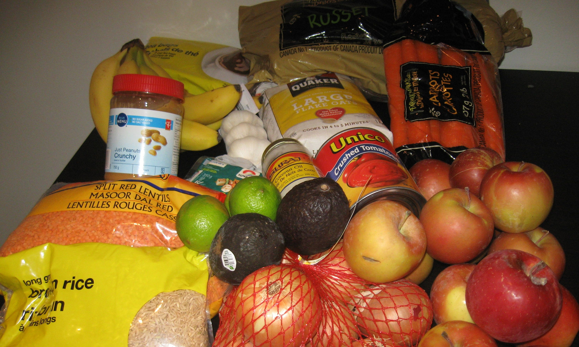 Food that Barb Ryeburn bought for the 2015 Welfare Food Challenge