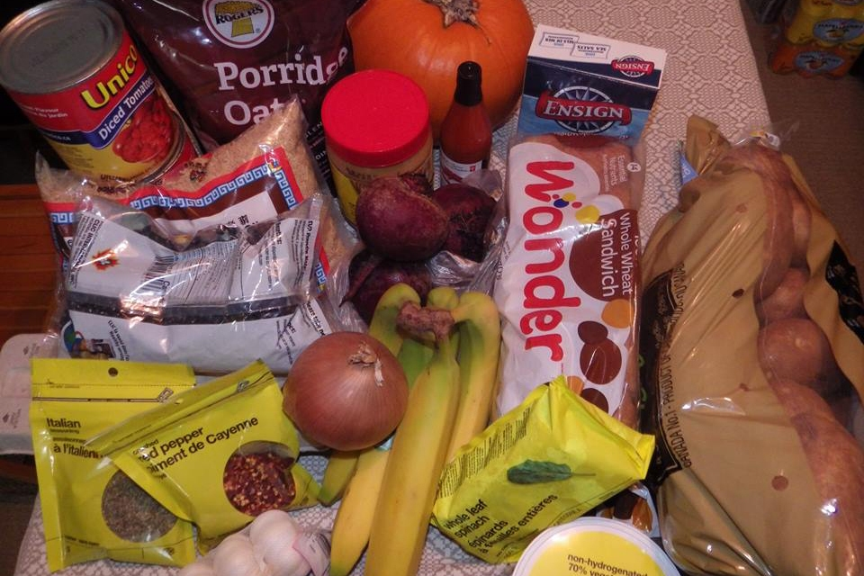 Food bought by Earyn Wheatley and Deanna Ogle for the 2015 Welfare Food Challenge