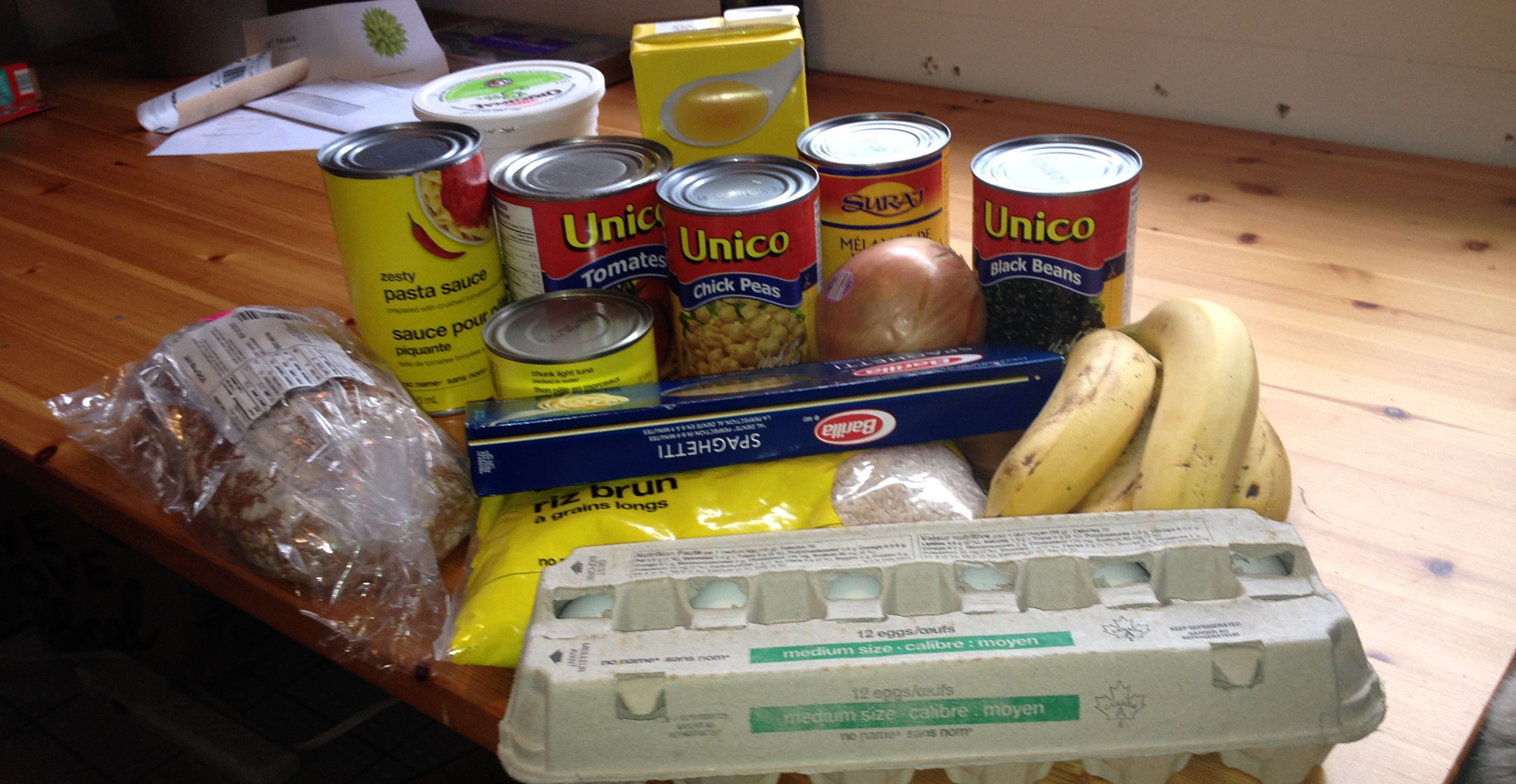 Photo of Laurel Burton's food for the 2015 Welfare Food Challenge