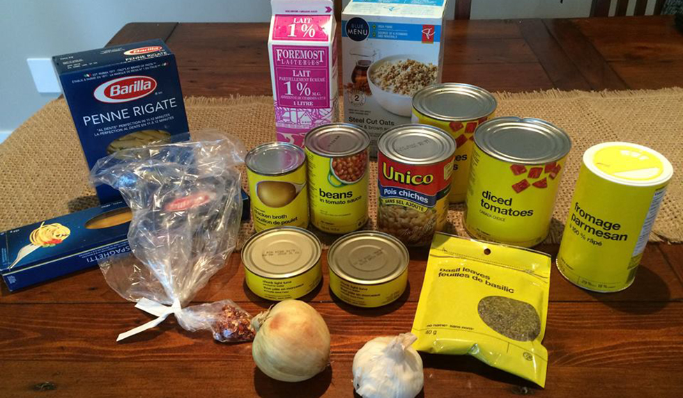 Mairi Buhler's food for the 2015 Welfare Food Challenge.