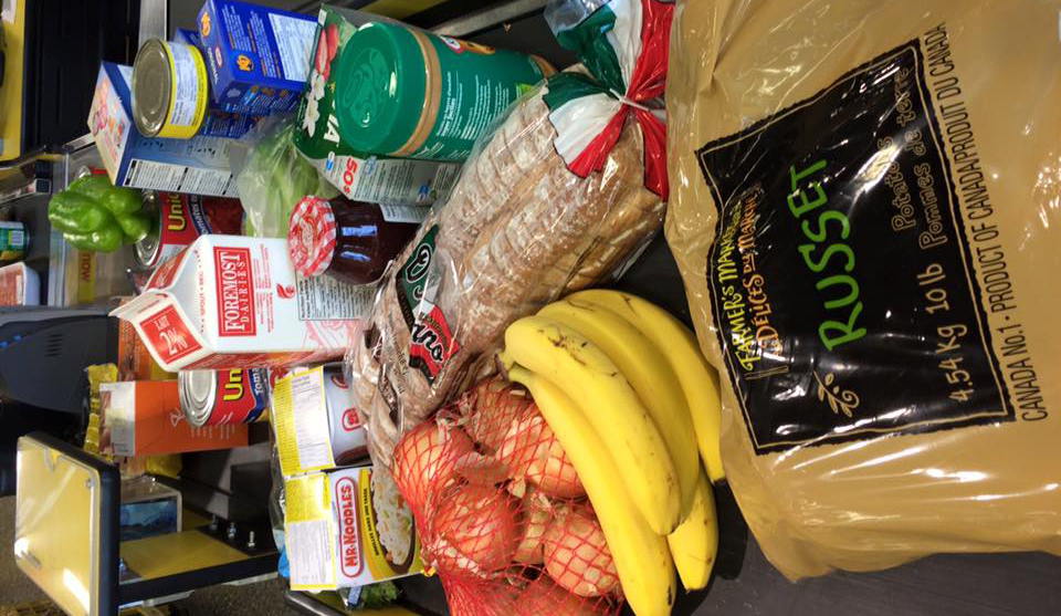 Food that Melissa Mark bought for the 2015 Welfare Food Challenge