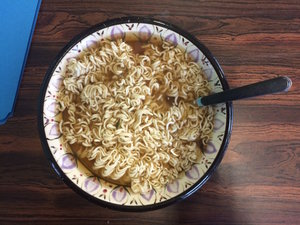 Photo of bowl of instant noodles