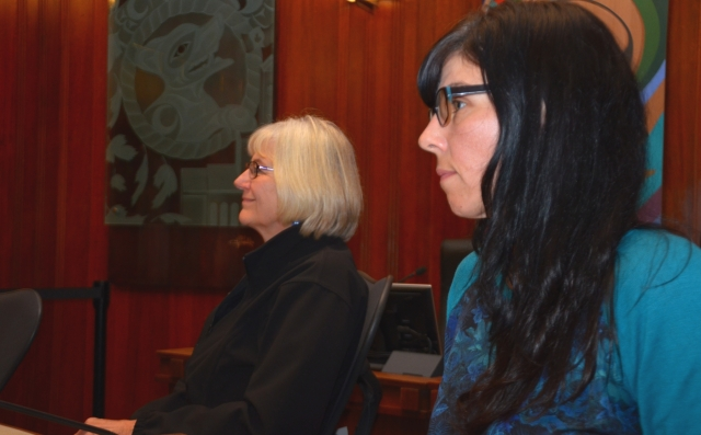 Photo of Irene Lanzinger and Andrea Reimer by Murray Bush.